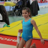 Oréane Léchenault termine 5ème au championnat de France départemental de gymnastique 2010