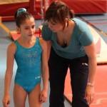 Oréane et Cathy Vaton sur le plateau de la demie-finale France de gymnastique 2010