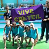 L'équipe de l'US Créteil de gymnastique 2009 : Nell, Leslie, Noémie, Manon et Oréane