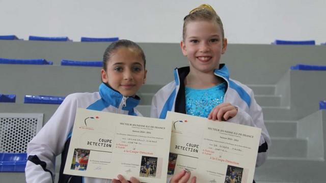Oréane Léchenault et Manon De Ridder au coupe de détection de gymnastique
