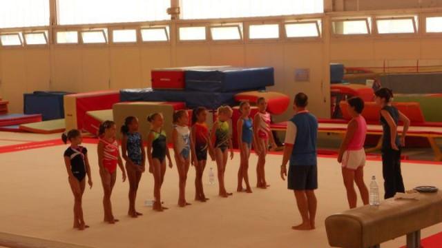 Oréane Léchenault au Pôle de Toulon de gymnastique