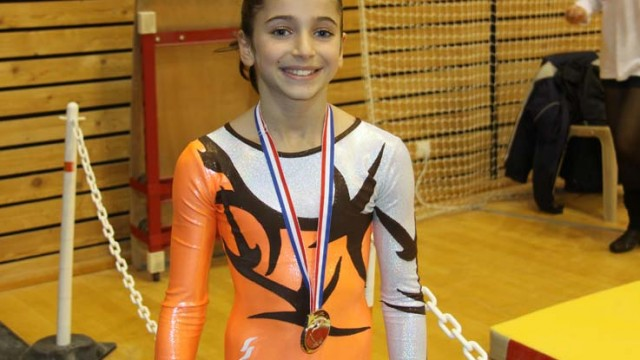 Oreane au coupes nationales de gymnastique à Bourges en 2011