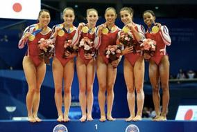L'équipe de gymnastique artistique féminine des états-unis