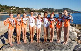 Les gymnastes du Pôle de Toulon jouent les tops models