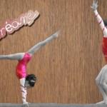 Oréane exécutant des figures de gymnastique