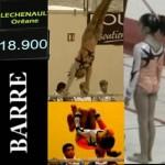 Oréane aux barres asymétriques lors des Coupes de France de gymnastique 2011