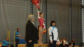 Oréane à la fête de l'US-Créteil de Gymnastique 2012