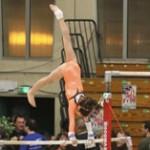 Oréane en test espoir de gymnastique au Pôle France de Saint-Etienne