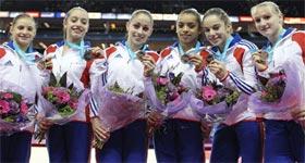 L'équipe de France féminine de gymnastique aux Jeux Olympiques de Londres 2012