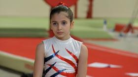 Oréane Léchenault gymnaste au Pôle de Toulon de gymnastique