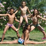 Les gymnastes du Pôle espoir de gymnastique de Toulon