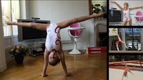 Oréane gymnaste au Pôle de gymnastique de Toulon saison 2012 / 2013