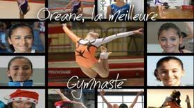 Oréane mis en scène par une fan de gymnastique