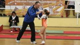 Oréane avec son entraîneur Eric Boucharin au gala des Petits As 2012 à Avignon