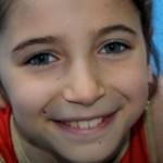 Oréane dans son 1er spectacle de gymnastique
