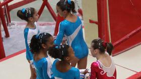 Les gymnastes de l'équipe de France