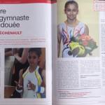 Oréane Léchenault dans le gymnaste magazine