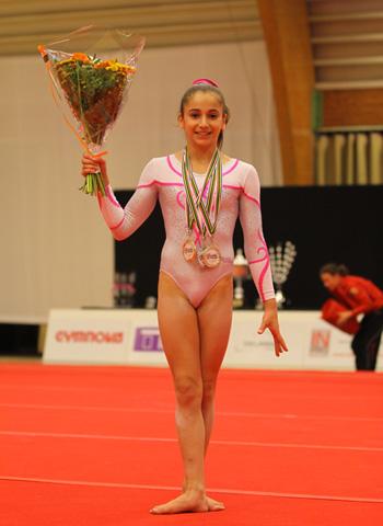 Oréane Léchenault au Gymnova Cup 2015
