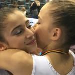 Oreane Léchenault et Alison Lepin ay Top Gym 2015 de Charleroi en Belgique