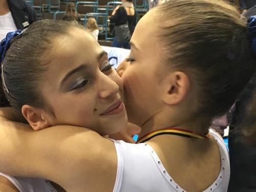 Oreane Léchenault et Alison Lepin au Top Gym 2015 de Charleroi en Belgique
