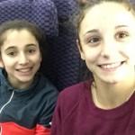 Loan His et Oréane Léchenault dans l'avion pour Houston