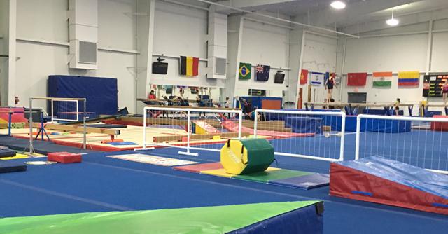 La salle d'entraînement du Woga Classic à Frisco aux USA