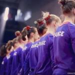 L'équipe de France de gymnastique  artistique à Jesolo en Italie
