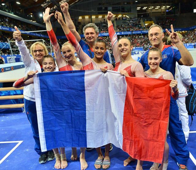 L'équipe de France de Gymnastique