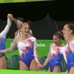 L'équipe de France de gymnastique à Rio pour les jeux Olympiques