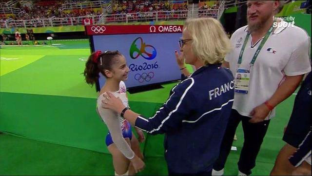 Oréane avec Véronique Legras, l'entraîneur national.