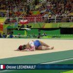Oréane  Léchenault au sol